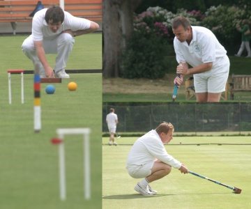 2005 World Championship (clockwise from left): James Death, Reg Bamford, Robert Fulford (Photos: Samir Patel)