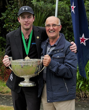 Picture: Jeff Soo - Paddy Chapman with his mentor John Prince