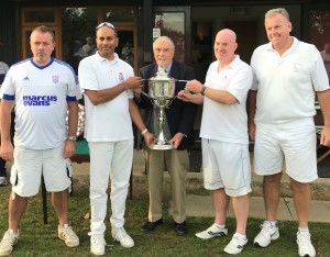 Picture: David Walters - Surbiton Croquet Club being presented the Beddow Cup by Quiller Barrett